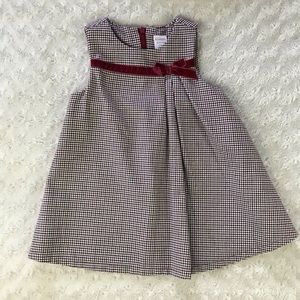 Gymboree Houndstooth Dress Bow 18-24 Months